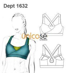 Women's crop bra patten from Unicose patterns Swimsuit Pattern, Bra Pattern, Croquis Fashion, Underwear Pattern, Fashion Design Template, Diy Shorts, Bra And Panty Sets, Lingerie, Moda Fitness