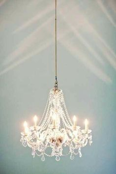 Chandelier...I'd love one, or two, in my house...bathroom?  bedroom?