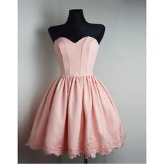Strapless Sweetheart Short Pink Homecoming Dress Ball Gown