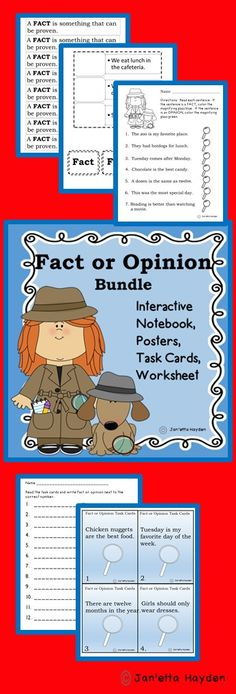 Download or pin to your Writing Board!  Everything to teach fact and opinion. Janetta Hayden