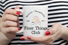 Finer Things Club The Office tv show Michael Scott mug. The office show merch Dwight Schrute. Grandma Mug, New Grandma, Grandmother Gifts, Coffee Mug Sets, Mugs Set, The Office Show, Office Fan, Dunder Mifflin, Michael Scott