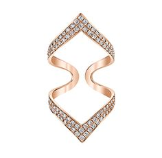 Double Chevron Ring Luxury Beauty - http://amzn.to/2jx73RT