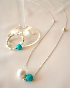Julian beads shop スリーピングビューティー&パール ツインネックレス&リング