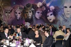 For a classic theme that's perfect for any audience...our Venetian Carnival backdrops are ideal.