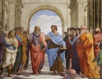 The School of Athens fresco Royalty Free Stock Image