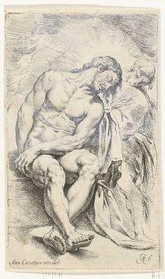 Jan de Bisschop | Stervende Christus gesteund door een engel, Jan de Bisschop, 1668 - 1671 |