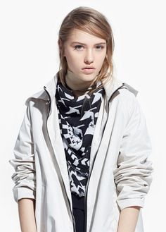 $59, Grey Trenchcoat: Mango Hooded Parka. Sold by Mango. Click for more info: https://lookastic.com/women/shop_items/189425/redirect