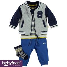 Part of the Babyface Newborn boys WINTER 2015 collection. In stores from July 2015. T-shirt, jacket, pants and socks.