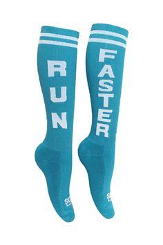 """Run Faster"" Athletic Socks"