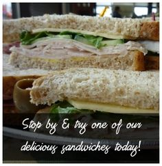How a bout a yummy sandwich from Hillcrest Bakery & Deli! Deli, Sandwiches, Bakery, Rock, Bread Store, Locks, Rock Music, Bakery Business, Stone