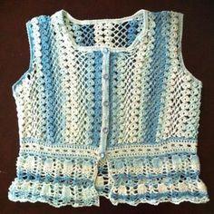 Crochet beaded vest
