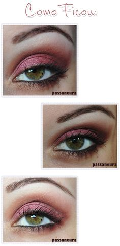 Tutorial de maquiagem rosa avermelhada feita com a paleta Pausa Para Feminices.