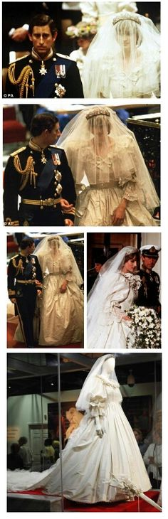 July Lady Diana Spencer marries Prince Charles at St. Paul's Cathedral in London. Princess Diana Wedding Dress, Princess Diana Family, Royal Wedding 1981, Royal Weddings, Lady Diana Spencer, Royal Prince, Prince And Princess, Princesa Diana, Elizabeth Ii