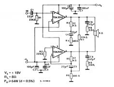 tda2050 bridge amplifier circuit - Google Search