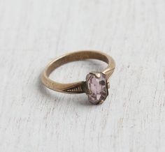 Antique Gold Filled Purple Stone Ring  Art Deco by MaejeanVINTAGE, $24.00