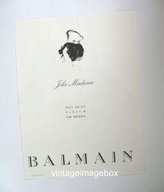 BALMAIN Jolie Madame vintage perfume advert by VintageImageBox, £5.95