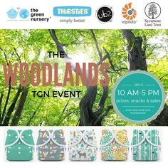 The new #Thirsties Woodland Collection has inspired us to throw a party and hug some trees! On Saturday, Dec. 5th join us in-store to help save Hoosier forests, take advantage of sales, and enter to win prizes all day! We'll be having some major giveaways from Thirsties, Ergobaby, Urban Baby Bonnets, Anointment Natural Skin Care and more! Check out our event page for more info! #bloomington #thegreennursery