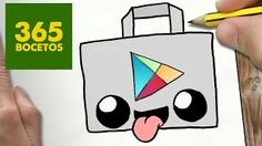 365BOCETOS - YouTube                                                                                                                                                                                 Más App Drawings, Sweet Drawings, Cute Easy Drawings, Cute Kawaii Drawings, Amazing Drawings, Cartoon Drawings, Kawaii App, 365 Kawaii, Chibi Kawaii