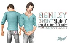 Henley Shirt Style 2 by Peacemaker IC - Sims 3 Downloads CC Caboodle