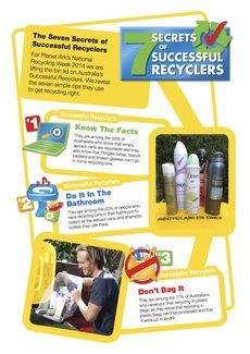 Seven Secrets of Successful Recyclers Factsheet - Click to download © Planet Ark