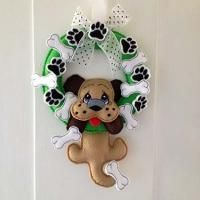 Puppy Wreath | All Sew Crafty