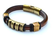 Luscious Greek leather bracelet with antique by TheDragonsGrowlery, $55.00