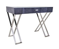 Amara Decorative Grey Glass Dressing Table