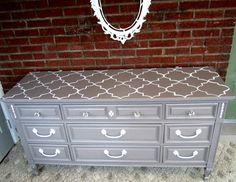 DIYing a Quatrefoil dresser ASAP! I want to paint the top of dresser this design