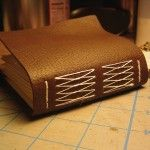 long stitch leather pocket journal tutorial by Ruth Bleakley