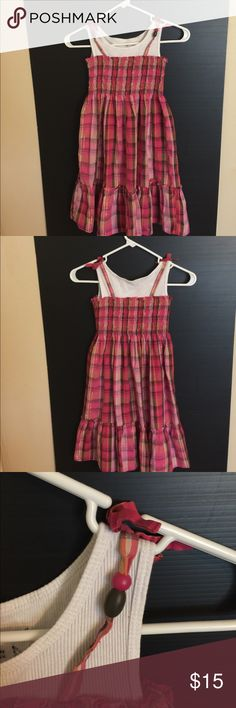 Girls dress. Very cute and comfy. Girls cute dress for the summer or church built in white shirt. Bead detailing on shoulders. So cute make me an offer. Sz. 8 Dresses Casual