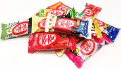 Have you ever seen as many Kit Kats ... guess some of the flavours!