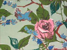 Vintage  1950s  Rose  BluebirdNest  by FarfallaDesignStudio