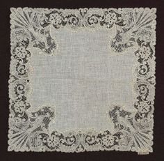 Honiton Lace Museum | Peacock design lace handkerchief, Flemish (Bruges) 1890ish @ Museum of ...