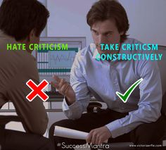 Take Criticism Constructively