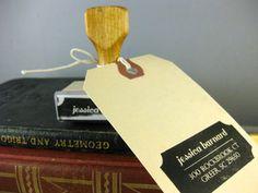 Custom Return Address Stamp - Vintage Modern | $35 | Tin Oiseau | Use the code PIN10 to get 10% off!