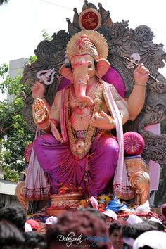 Yay, Lord Ganesha has arrived:-) **WISHING YOU & YOUR FAMILIES A VERY HAPPY GANESH CHATURTHI. MANY MANY BLESSINGS TO ALL OF YOU!**