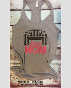 Womans racerback jeep tank top | jeep mom tank top | fitness tank top | gym tank top | summer tank top by niklindesigns1225 on Etsy https://www.etsy.com/listing/607860852/womans-racerback-jeep-tank-top-jeep-mom