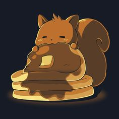 A squirrel and waffles :O !!
