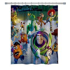 $24.96 Goodcare Children's Cartoon Toy Story Disney Shower Curtain |  disney shower curtain bathroom sets | disney shower curtain ideas | #disney Bathroom Kids, Bathroom Shower Curtains, Bathrooms, Disney Shower Curtain, Cartoon Toys, Curtain Ideas, Curtain Fabric, Toy Story, Room Ideas