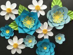 Papel flor pared novia de mini de telón de por SydneyPaperFlowers
