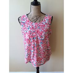 Talbots Pink Floral Tank Top Size Small Size small. There are no flaws. Talbots Tops Tank Tops