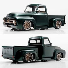 Hot Wheels - Love what @classic_car_studio did with this Ford F100, that front end treatment is fire! @hotrodmagazine #ford #f100 #hotrod #carporn #chopped #stance #streettruck #lowfastfamous
