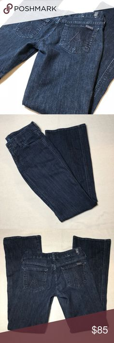 7 for all man kind The Lexie A Pocket Petite Jeans 7 for all man kind • The Lexie (Petite) • Blue Jeans• A Pocket • Size 24  Condition • Gently Used 7 For All Mankind Jeans