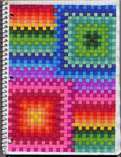graph paper works. I want to do this!!!!!