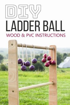 DIY Games | DIY Ladder Ball Instructions. Learn how to make Ladder Ball from wood OR from PVC, we put together both instructions. #diygames #diy #diyproject #ladderball #outdoorgame #craft