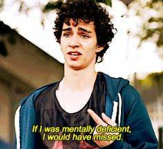 Misfits oh nathan Misfits Nathan, Misfits Tv, Misfits Quotes, Mis Fit, Robert Sheehan, How To Cure Depression, Reasons To Live, Tv Quotes, Before Us