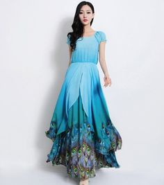 Hey, I found this really awesome Etsy listing at http://www.etsy.com/listing/167443378/boho-peacock-blue-floral-chiffon
