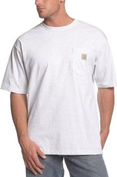 Carhartt Men's Workwear Pocket Short-Sleeve T-Shirt, Ash, Medium: cotton jersey knit. Side seamed to minimize twisting. Left chest pocket with logo label. Workwear Shorts, Carhartt Workwear, Buy T Shirts Online, Mens Big And Tall, Shorts With Pockets, Work Wear, Mens Fashion, Mens Tops, Stuff To Buy