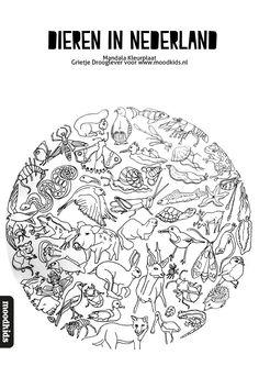 Mandala dieren kleurplaat gratis download | Moodkids