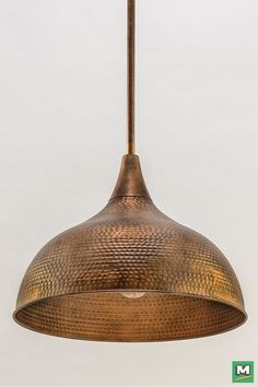 Patriot Lighting® Diego Pendant Light with Hammered Copper Finish and Metal Shade